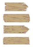 De houten VectorReeks van het Teken Stock Foto's