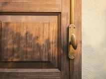 De houten verlichting van de de schaduwschaduw van het deurhandvat Stock Foto's