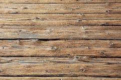 De houten vloer van de verlaging Stock Foto