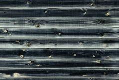 De houten voering scheept muur in donkerblauwe of smaragdgroene virid houten textuur oude panelen als achtergrond, Naadloos patro Stock Afbeeldingen