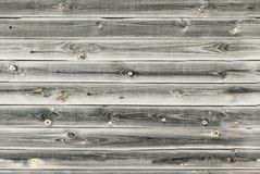 De houten voering scheept muur in Witte, grijze houten textuur oude panelen als achtergrond, Naadloos patroon Horizontale planken royalty-vrije stock afbeelding