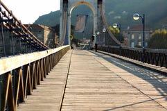De houten voetbrug royalty-vrije stock foto