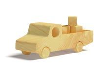 De houten Vrachtwagen van het Stuk speelgoed Stock Foto's