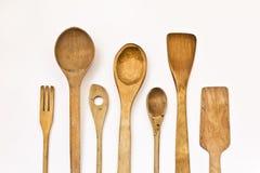 De houten werktuigen van de keuken Royalty-vrije Stock Afbeeldingen