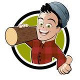 De houthakker van het beeldverhaal stock illustratie