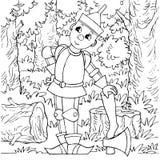 De houthakker van het ijzer royalty-vrije illustratie