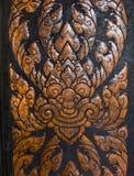 De houtsnijwerken is een vorm van Thais art. Royalty-vrije Stock Foto's