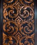 De houtsnijwerken is een vorm van Thais art. Royalty-vrije Stock Afbeeldingen