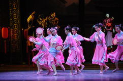 De Hu Feng da dança- do rosa da empregada doméstica- ato primeiramente de eventos do drama-Shawan da dança do passado Foto de Stock