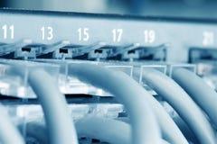 De Hub van Ethernet Stock Foto's