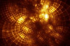 De Hub van GridCloud - fractal illustratie Stock Afbeelding