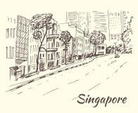 De hub van Singapore van winkels, opslag, markten, boutiques vector illustratie