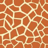 De huid naadloos patroon van de giraf Stock Foto