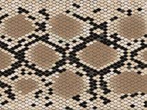 De huid van de het patroonslang van de ruit stock illustratie