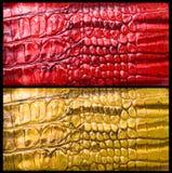 De huid van de krokodil stock foto