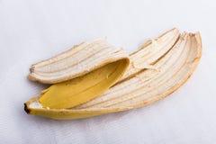 De huid van een rijpe banaan stock afbeelding