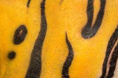 De huidachtergrond van de tijger Stock Foto
