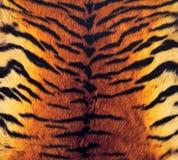 De huidachtergrond van de tijger Stock Fotografie
