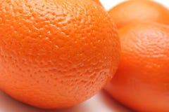 De huidclose-up van de sinaasappel Stock Fotografie