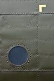 De huiddetail van het vliegtuig Royalty-vrije Stock Foto