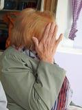 De huidengezicht van de camera schuw vrouw van foto stock foto's