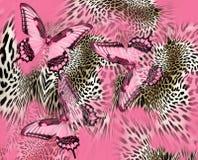 De huidpatroon van de vlinderluipaard vector illustratie