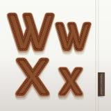 De huidtextuur van het alfabetleer. Royalty-vrije Stock Fotografie