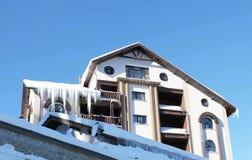 De huis sneeuwwinter 3 Stock Afbeelding