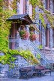De huisbouw in bernkastel-Kues Stock Afbeeldingen