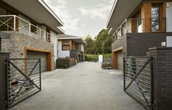 De huisbouw - moderne architectuur Stock Foto's