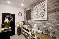 De huisdecoratie winkelen binnenland stock photos images
