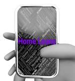 De huisleningen vertegenwoordigt Website en het Lenen Stock Foto's