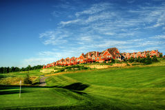 De huisvesting van de golfcursus Royalty-vrije Stock Afbeelding