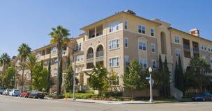 De huisvestingsflatgebouwen met koopflats van Californië Royalty-vrije Stock Fotografie