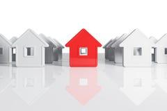 De huizen abstracte vorm van de groep Royalty-vrije Stock Fotografie