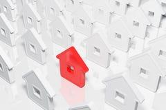 De huizen abstracte vorm van de groep Royalty-vrije Stock Afbeeldingen