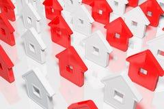 De huizen abstracte vorm van de groep Stock Fotografie
