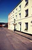 De huizen in de stad Engeland Folkestone van huizen Stock Foto's