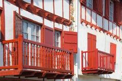 De huizen van Ainhoa´s Royalty-vrije Stock Afbeelding