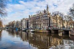 De Huizen van Amsterdam royalty-vrije stock foto