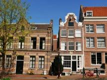 De huizen van Amsterdam Stock Foto's