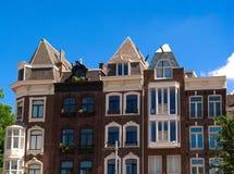 De huizen van Amsterdam Royalty-vrije Stock Fotografie