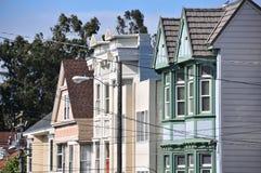 De huizen van Asbury van Haight in San Francisco Royalty-vrije Stock Afbeeldingen