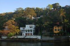De huizen van Beachfront Stock Fotografie