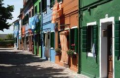 De Huizen van Burano Royalty-vrije Stock Afbeeldingen