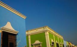 De Huizen van Campeche Royalty-vrije Stock Afbeeldingen