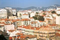 De huizen van Cannes stock foto's
