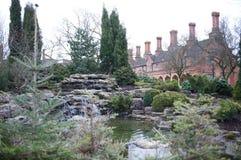 De Huizen van de Aalmoes van Bedworth, Warwickshire Stock Foto