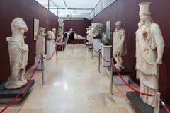 De huizen van de Archeologie Museum Stock Afbeeldingen