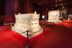 De huizen van de Archeologie Museum Stock Foto's